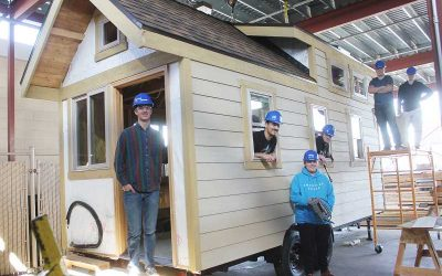 Students Build, Market Tiny house